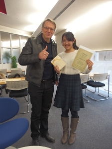 IRIS-Gold-Preisträgerin Iguchi Maika (Keio)